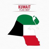 Flag Map of Kuwait vector