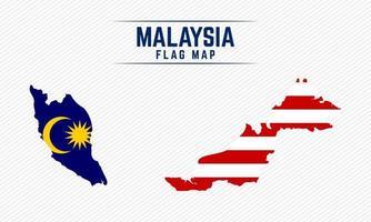 Flag Map of Malaysia vector