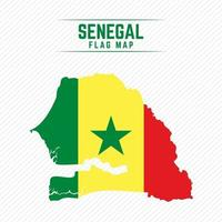 Flag Map of Senegal vector
