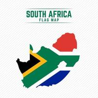 Flag Map of South Africa vector