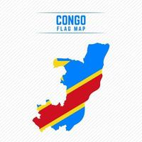 Flag Map of the Democratic Republic of the Congo vector