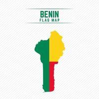 Flag Map of Benin vector