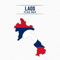 Flag Map of Laos vector