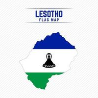 Flag Map of Lesotho vector