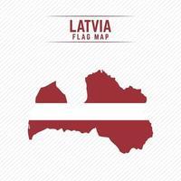 Flag Map of Latvia vector
