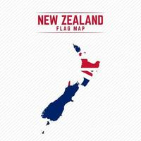 Flag Map of New Zealand vector