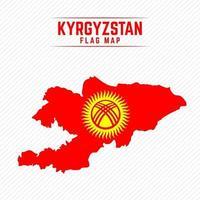 Flag Map of Kyrgyzstan vector