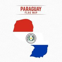 Flag Map of Paraguay vector
