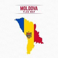 Flag Map of Moldova vector