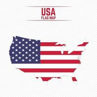 Flag Map of United States vector