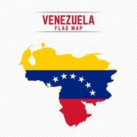 mapa de la bandera de venezuela vector