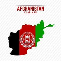 Flag Map of Afghanistan vector