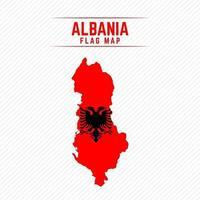 Flag Map of Albania vector