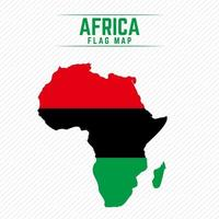 Flag Map of Africa vector
