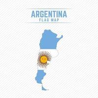 mapa de la bandera de argentina vector