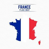 Flag Map of France vector
