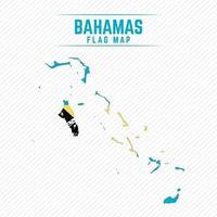 Flag Map of Bahamas vector