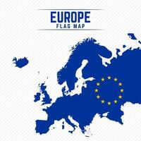 Flag Map of Europe vector