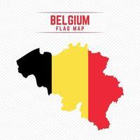 Flag Map of Belgium vector