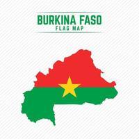 Flag Map of Burkina Faso vector