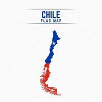 Flag Map of Chile vector