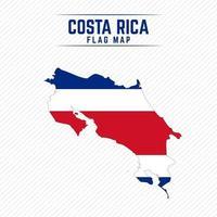 mapa de la bandera de costa rica vector