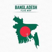 Flag Map of Bangladesh vector