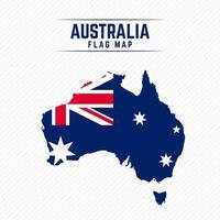 Flag Map of Australia vector