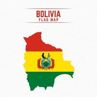 Flag Map of Bolivia vector