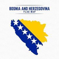 Flag Map of Bosnia and Herzegovina vector