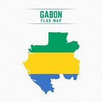 Flag Map of Gabon vector