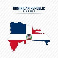 Flag Map of Dominican Republic vector