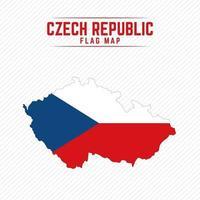 Flag Map of Czech Republic vector