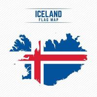 Flag Map of Iceland vector
