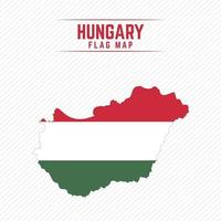 Flag Map of Hungary vector