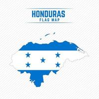 Flag Map of Honduras vector