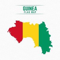 Flag Map of Guinea vector