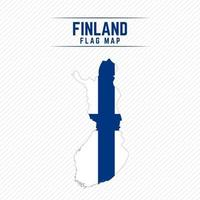 Flag Map of Finland vector