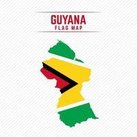 Flag Map of Guyana vector