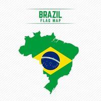 Flag Map of Brazil vector