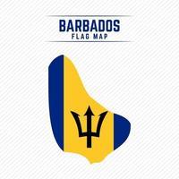 Flag Map of Barbados vector