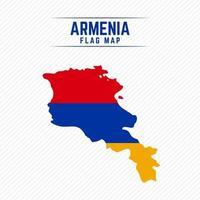 Flag Map of Armenia vector