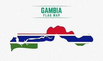 Flag Map of Gambia vector