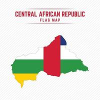 Flag Map of Central African Republic vector