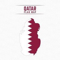 Flag Map of Qatar vector