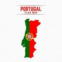 Flag Map of Portugal vector