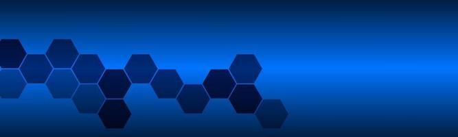 encabezado abstracto con polígonos azules banner vectorial para su sitio web y presentación ilustración de diseño vectorial moderno vector
