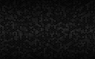 Dark widesreen background with hexagons with different transparencies Modern black geometric design Simple vector illustration