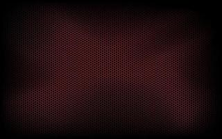 Dark modern technology background with red hexagon mesh Abstract metal geometric texture Simple vector illustration