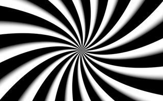 Black and white spiral background Swirling radial pattern Abstract vector illustration